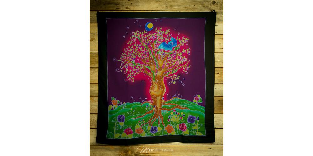 drap mural avec arbre de vie. Black Bedroom Furniture Sets. Home Design Ideas