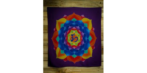drap mural mauve avec mandala. Black Bedroom Furniture Sets. Home Design Ideas